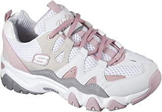 Skechers D'Lites 2 Top Down Womens White/Pink Trainers