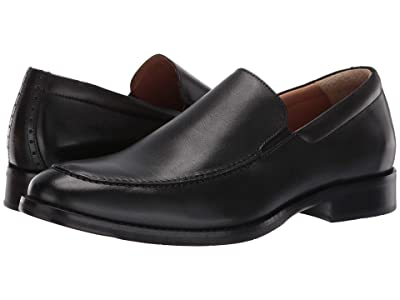 Johnston & Murphy Halford Moc Venetian (Black Full Grain) Men