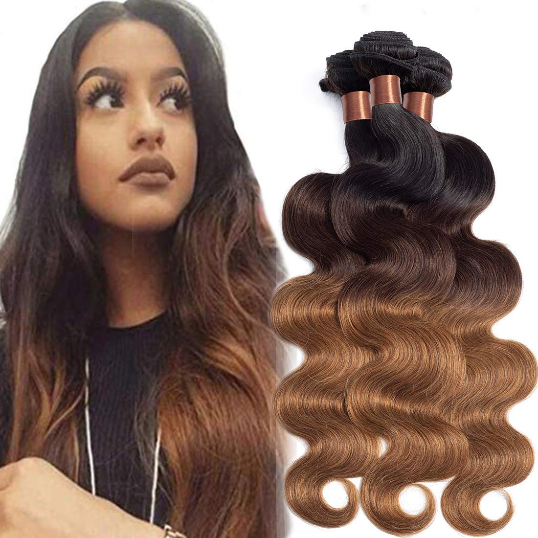 ANGIE QUEEN Soft Human OFFer Hair 3 Attention brand Bundles Brazil 30 1B Color Ombre 4