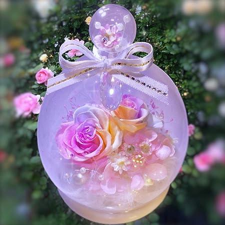 フローラルベビードール プリザーブドフラワー パステルレインボーローズ 「真珠の涙mini」
