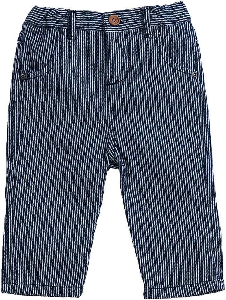 SNOW DREAMS Baby Boys Chino Pants Cotton Uniform Pants Soft Warm Trousers Size 3M-18 Month