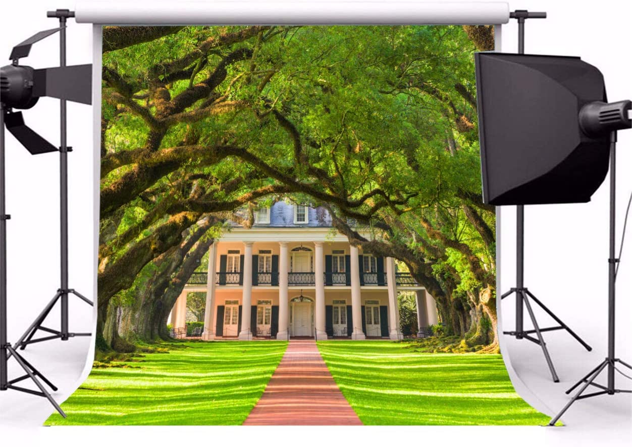 Amazon Com Baocicco 7x7ft Wedding Backdrop Oak Alley Plantation Archway Green Grass Lawn Pathway Photography Background Wedding Birthday Ceremony Honeymoon Travel Lover Portrait Studio Props Camera Photo