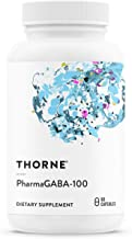 Thorne Research - PharmaGABA-100 - Natural Source GABA (Gamma-Aminobutyric Acid) Supplement - Promotes a Calm, Relaxed, Fo...