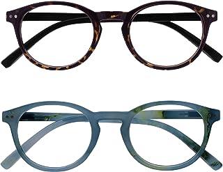 Opulize Zen 2 Stuks Afstand Bril Kortzichtig Bijziendheid Klein Donker Bruin Turquoise Mannen Vrouwen MM24-2Q -1,00