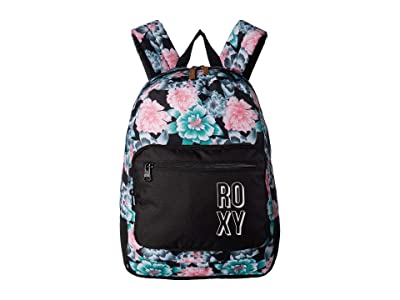 Roxy Kids Happy At Home Backpack (Anthracite Crystal Flower) Backpack Bags