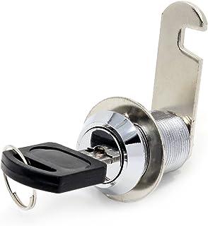 16 mm 20mm Drawer lock Doutop Cerraduras para armario de llave de bloqueo de puerta para buz/ón con llaves caj/ón o armario 20 mm 25 mm 30 mm