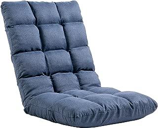 座椅子 フロアチェア 低反発ウレタン フロアソファー 42段階調整可能(Blue)03AA