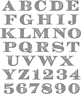 Alphabet Die Cuts Upper Case Script Font Sets of 4 in Assorted Colours