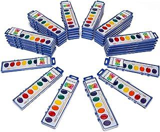 36 بسته رنگ آبرنگ با برس های چوبی با کیفیت 8 رنگ آب قابل شستشو ایده آل برای بزرگسالان در بزرگسالان ، احزاب کلاس درس دانش آموزان به صورت عمده توسط Color Swell