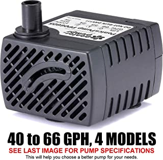 PP06605: 66 GPH Submersible Pump with 5' Cord - 3W... Quality Indoor/Outdoor/Ta