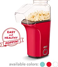Dash DAPP150V2RD04 Hot Air Popcorn Popper Maker with Measuring Cup to Portion Popping Corn Kernels + Melt Butter, Makes 16C, Red