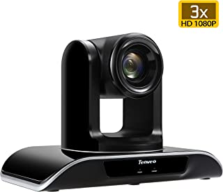 Tenveo Conference Room Camera 3X Optical Zoom Full HD 1080p USB PTZ Video Conference Camera for Business Meetings (3X Zoom TEVO-VHD3U)