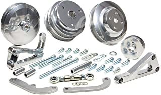 March Performance 2203109 Silver Serpentine Conversion Kit for Small Block Chevy Engine
