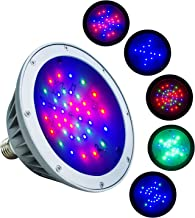 WYZM Waterproof LED Pool Light Bulb for Inground Swimming Pool,40Watt,Color Changing,Fit in for Pentair and Hayward Pool Light Fixtures (120V RGB)