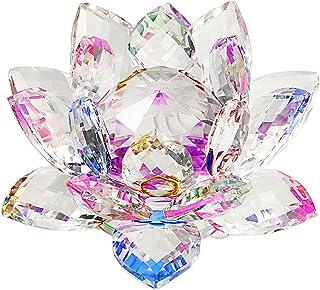 SUMNACON Fleur de Lotus Cristal - pour la Décoration dans la Maison, idéal Cadeau pour Anniversaire, Les fêtes(100mm Multi...