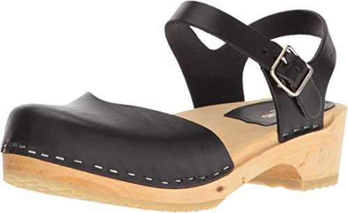 swedish hasbeens damen& 039;s Coverot Low Flat Sandal, schwarz, 41 EU 11 M US