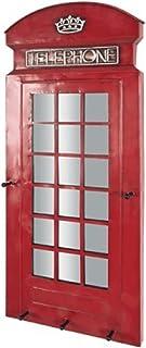 PEGANE Garderobe Murale Coloris Bordeaux - Dim : L 39 x P 6 x H 90 cm