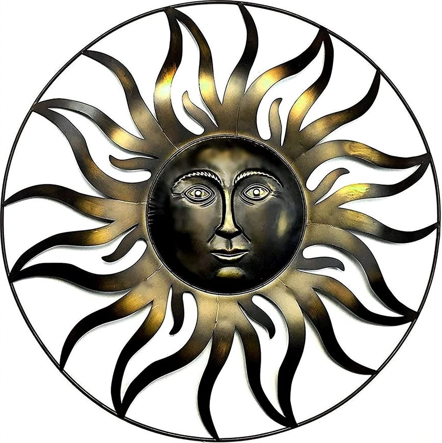 Bellaa 20018 Sun Metal Wall Decor Patio Outdoor Clearance SALE Limited time Ce Garden Free Shipping Cheap Bargain Gift Indoor