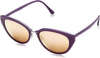 نظارة راي-بان النسائية نظارة شمسية 4250، بنفسجي لامع (بنفسجي لامع)، مقاس 52