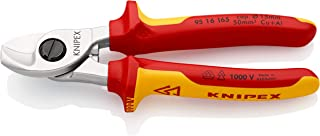 Knipex Tools Cable Shears, Chrome Plated VDE, 165 mm, 95 16 165