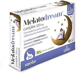 Melatodream® 320 mg. 30 capsulas vegetales con melatonina. melisa. amapola californiana. tila y vitaminas B-3 y B-6