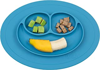 ezpz Mini Mat – One-Piece Silicone placemat + Plate (Blue), One Size