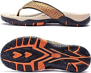ChayChax Tongs Homme Sandales de Sports Soutien de Voûte Plantaire Flip Flop Chaussures de Plage et Piscine Antidérapant