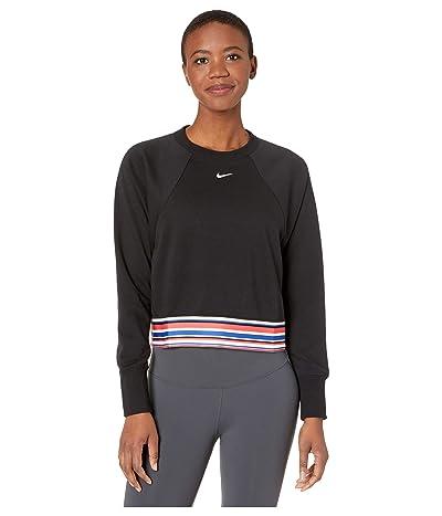 Nike Dry Get Fit Fleece Crew Stripe SP (Black/White) Women