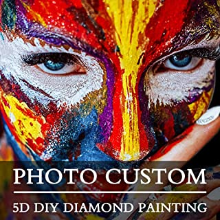 5D DIY Private Custom Diamond Painting by Number Kits,Full Drill Mosaic Craft Embroidery Rhinestone Cross Stitch Arts for Home Decor or Special Birthday Wedding Memorial Gifts