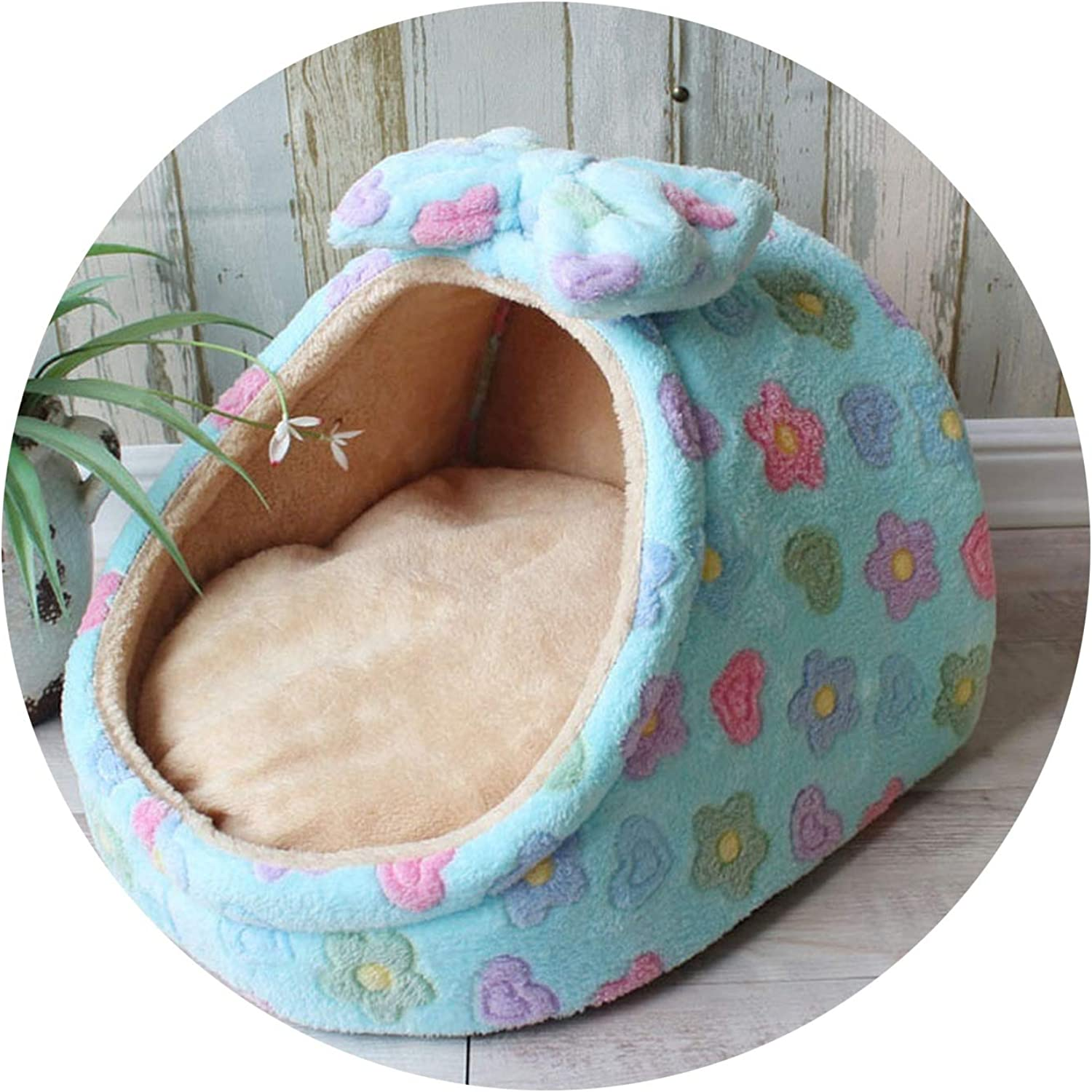 New Dog House Cat Bed Puppy Bed Blanket Cat House Dog Bed Mat,as The picture1,M