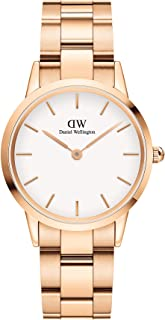 Daniel Wellington DW00100211 Stainless Steel White-Dial Round Analog Watch for Women - Gold
