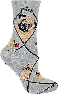 Pug diseño de perro Calcetines en color gris