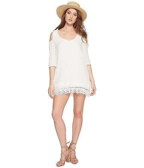 bb8162e24c0 Jack by BB Dakota Stefani Cotton Gauze Dress with Scallop Lace Hem ...