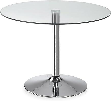Table Ronde 80 Cm Pied Central.Amazon Fr Table Ronde Avec Pied Central Cuisine Maison