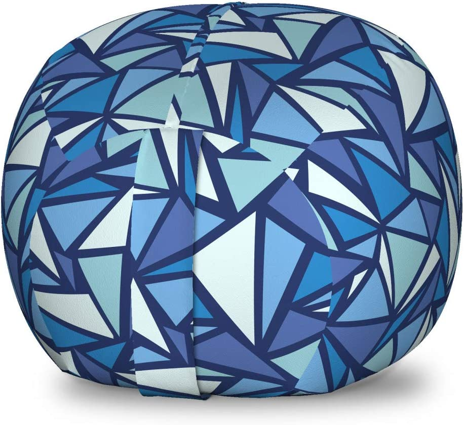 New product type Washington Mall Ambesonne Blue Storage Toy Bag Abstract Patte Geometrical Chair