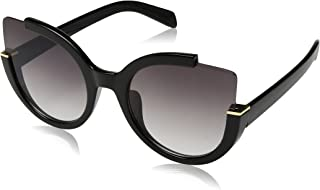 Womens Fashion Oversized Round Square Plastic Vintage Cut-Out Flash Mirror Lens Cat Eye Sunglasses