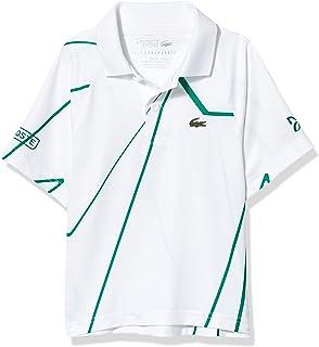 Lacoste Boys Sport Novak Djokovic All Over Print Jersey Polo Shirt