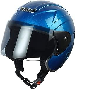 TreFinger Open face helmet Blue Glossy Tinted