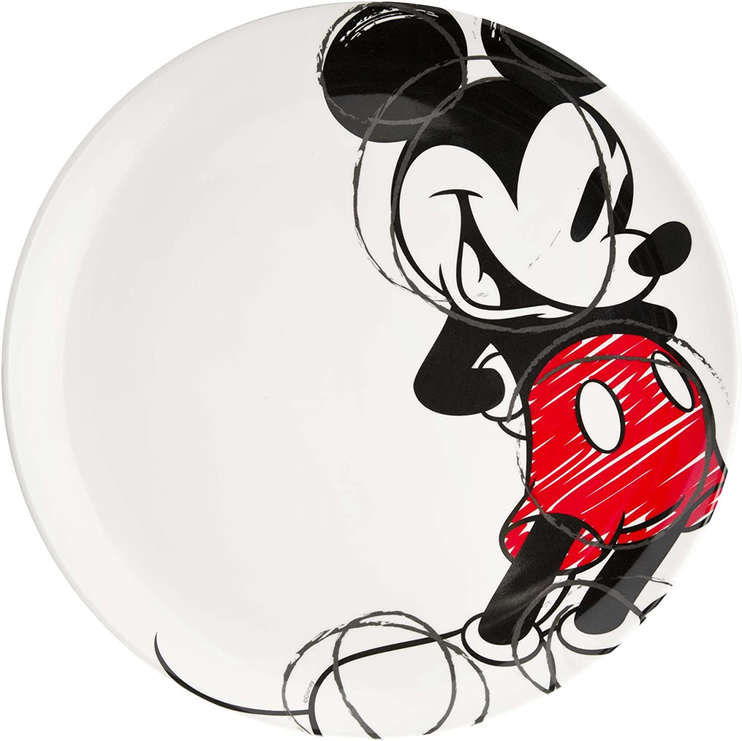 Zak Designs Max 82% OFF Dinner Plate with Graphics Indefinitely Mouse Mickey Reusable