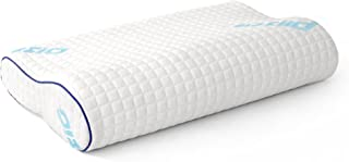 Plixio Memory Foam Contour Pillow for Sleeping - Side Sleeper Neck Support Cervical Bed Pillow with Hypoallergenic Bamboo Cover (Standard Size)