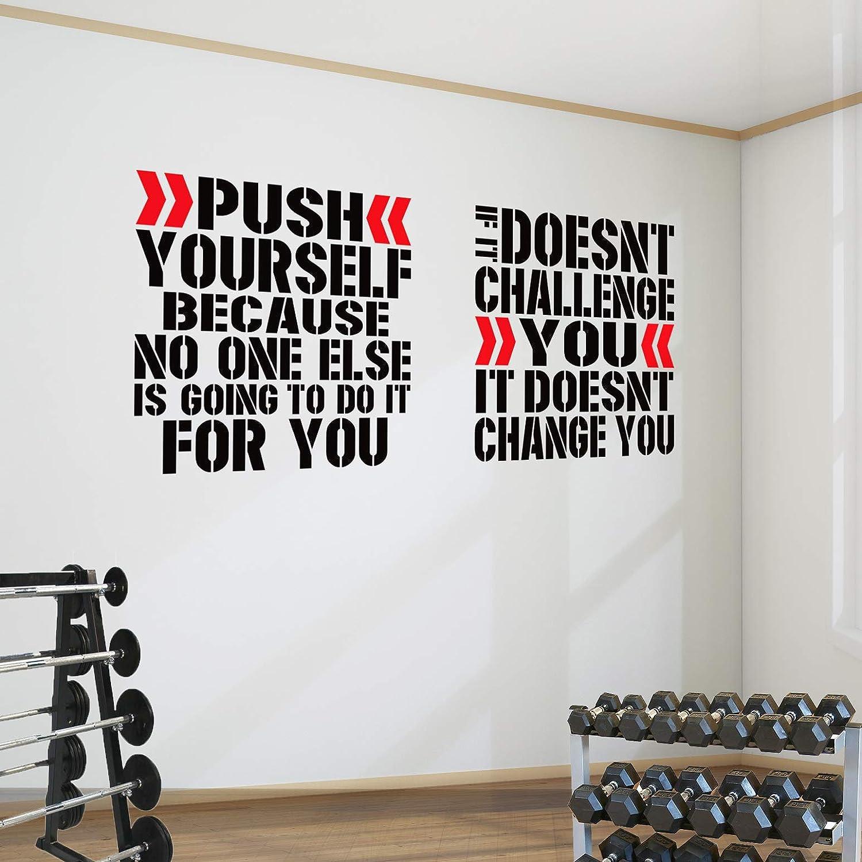 Vous voir échouer Fitness motivation cite Vinyle Art Autocollant Accueil Gym Wall Decals