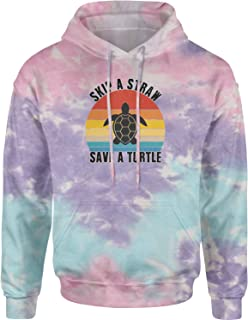 Expression Tees Skip A Straw Save A Turtle Vsco Unisex Adult Tie-Dye Hoodie