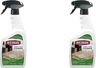 Weiman Granite Cleaner - 24 Ounce - For Granite Marble Soapstone Quartz Quartzite Slate Limestone Corian Laminate Tile Countertop and More Pack of 2