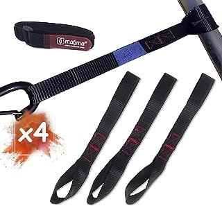 MAGMA 4 Kleine Spanbanden | Riemen met 2 metingen | 1000 Kgf / stuk | 30 cm lang | 25 mm breed | EN-12195-2 | Zwart | moto...