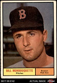 1961 Topps # 562 Bill Monbouquette Boston Red Sox (Baseball Card) Dean's Cards 2 - GOOD Red Sox