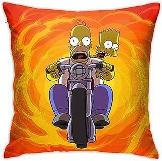 Dxddsdks Simpson Bart Homer J. Fundas de cojín Funda de almohada Funda de almohada Impresión 3D es suave y cómoda decoración sofá silla