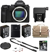 Fujifilm GFX 50S 51.4MP Medium Format Mirrorless Camera with Electronic Viewfinder - Bundle with EVF-TL1 Tilt Adapter, 64G...