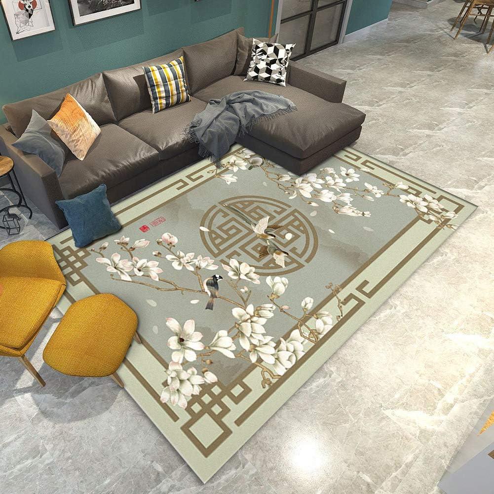 QIAOQ Living 超激安 Room Carpet Modern Chinese Sty スピード対応 全国送料無料 Traditional Printing