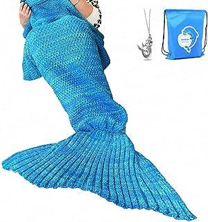 2019 New Mermaid Tail Blanket for Kids Girls Teens Adults Mermaid Sleeping Blankets Plush Soft Flannel Fleece All Seasons Sleeping Blanket Fish Scale Design Blanket Travel Birthday Gift BBhouse