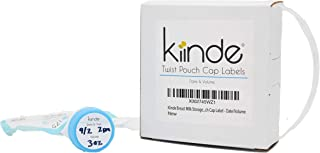 Kiinde Twist Cap Write-On Labels for Breast Milk Storage Pouches (Pack of 250) - Date/Volume